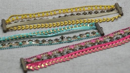 bracelets multirangs chaine fine