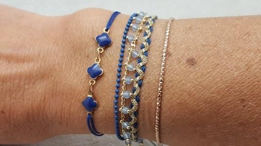 bracelets fantaisie et jonc plaqué Or