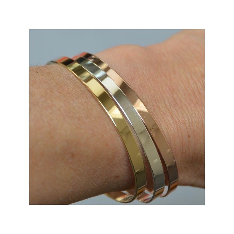 Bracelet jonc couleur or rose