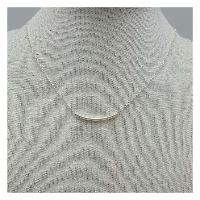 Collier ras du cou fine corne Argent sur chaîne fine