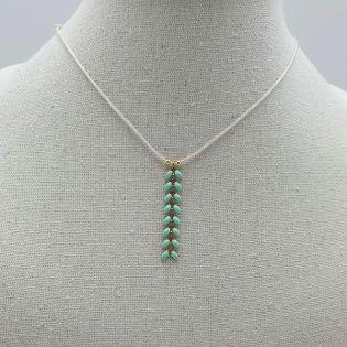 Collier maille épi verticale sur coton ajustable
