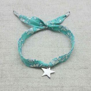 Bracelet liberty breloque Argent etoile
