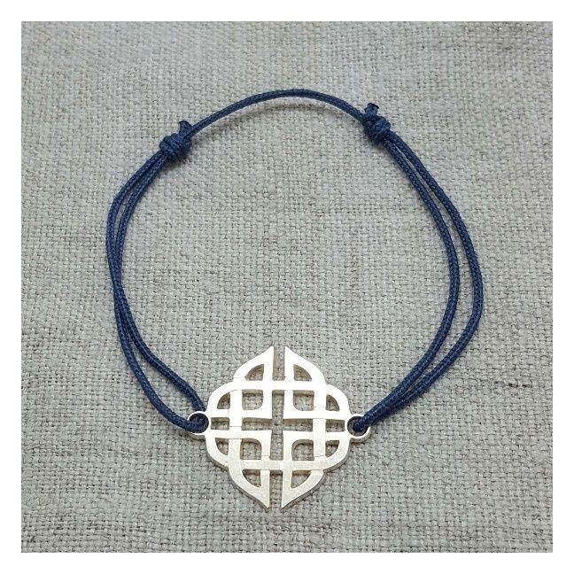Bracelet grande arabesque carré argent