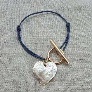 Bracelet fermoir et breloque coeur