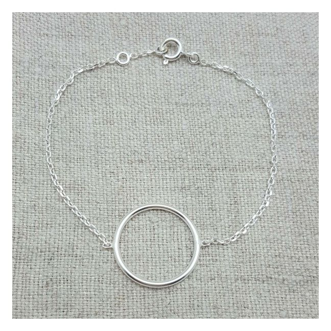 Bracelet anneau Argentsur chaîne
