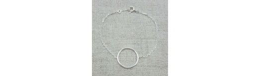 Bracelet anneau Argent ou Plaqué Or