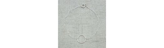 Bracelet un petit anneau Argent ou Plaqué Or