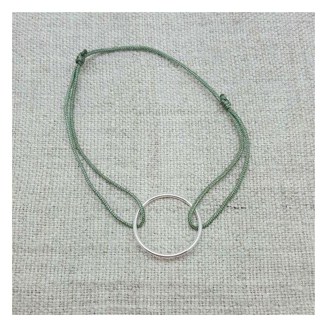bracelet rond argent ou plaqué Or