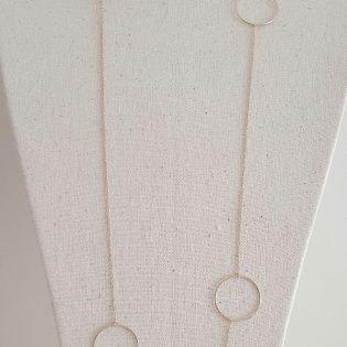 Sautoir Argent ou Plaqué Or 3 anneaux