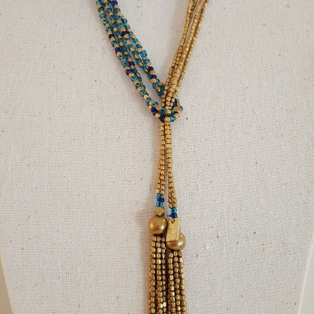 Sautoirs double perles naturelles
