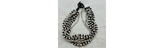 Bracelet large perles naturelles