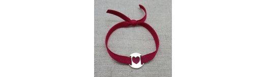 Bracelet cible Argent coeur ou étoile