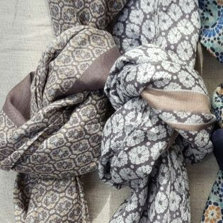 Foulards colorés coton