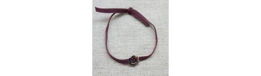 Bracelet fleur argent