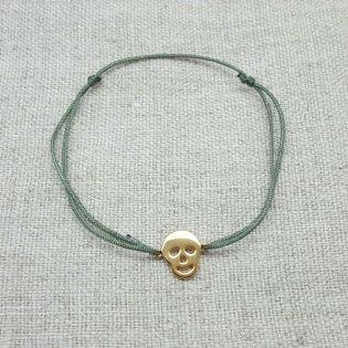 Bracelet tête de mort Argent ou Plaqué Or