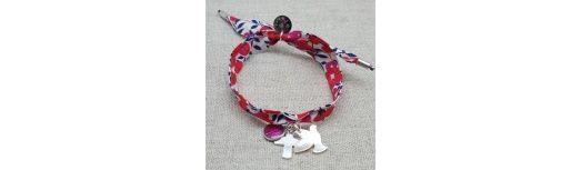 Bracelet colombe et croix argent