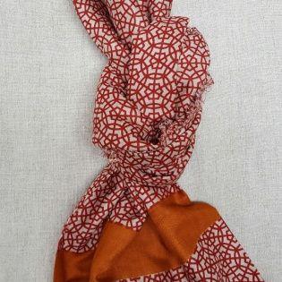 foulard imprimé rosace