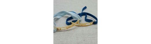 Bracelet barrette Plaqué Or à motifs géométriques