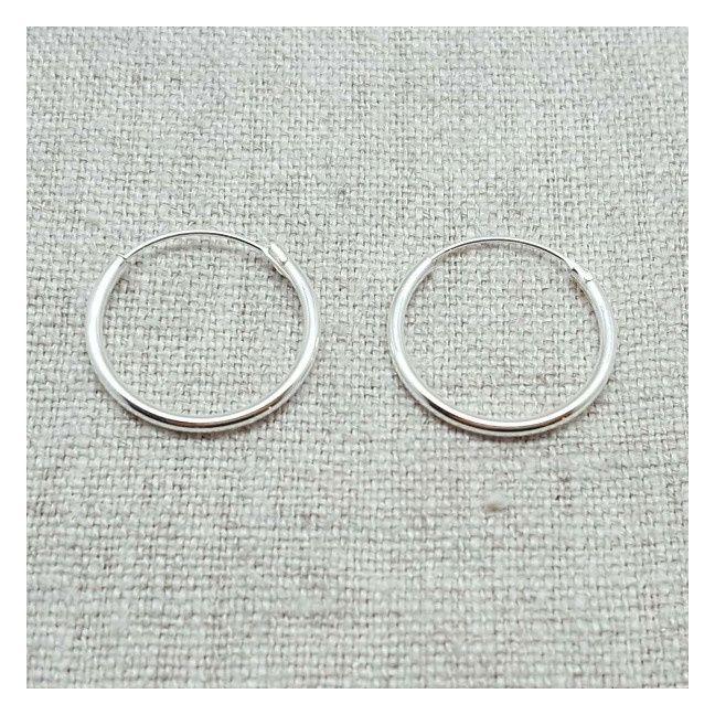 Boucles d'Oreilles anneau Argent ou Plaqué Or