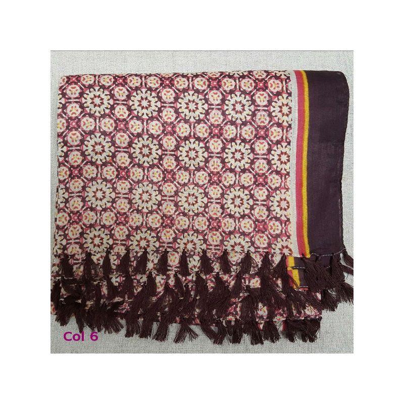 Roses Rouges FOULARD MacKintosh Style Coton Imprimé par Genévrier