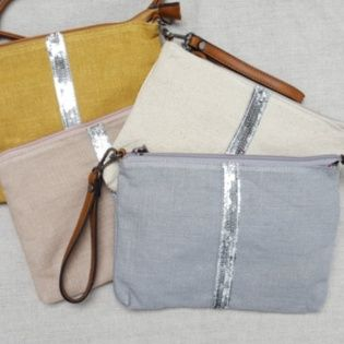 sac bandoulière en lin trois coloris