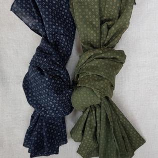 Foulard carreaux coton doux