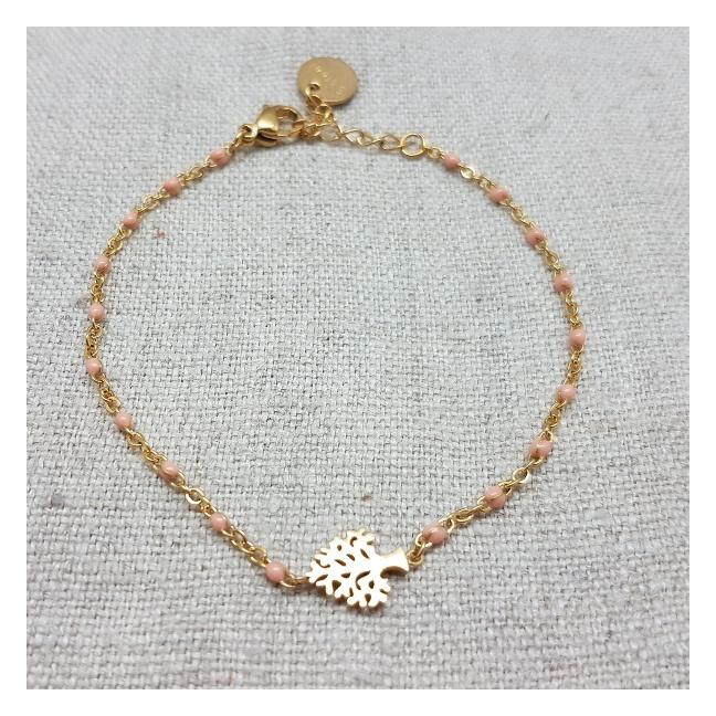 Bracelet chaîne coloré et motifs
