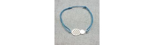 Bracelet ananas Argent ou Plaqué Or