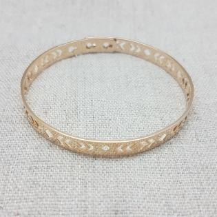 Bracelet jonc motif géométrique Plaqué Or