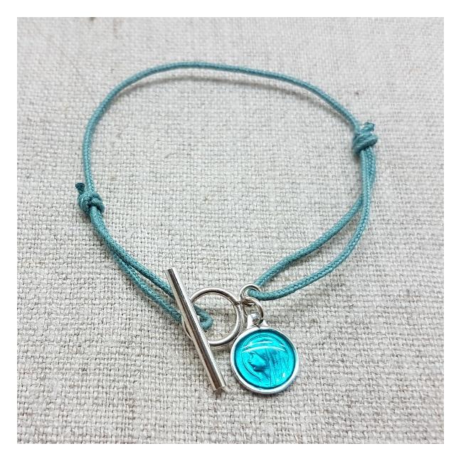 moins cher 3c76e 36f80 Bracelet religieux fermoir argent et médaille miraculeuse, cadeau catho