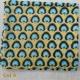 Foulard coton imprimé coloris bleu jaune