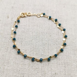 Bracelet double chaîne Plaqué Or