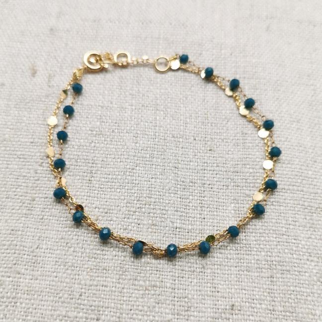 Bracelet maille serpent plate tressée plaqué Argent - Ninanina