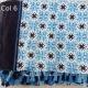 Foulard coton coloris été, les bleus