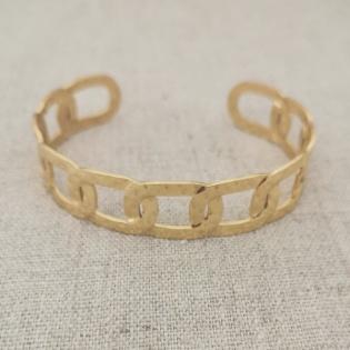 Bracelet jonc motif chaîne