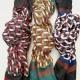 foulard imprimé géométrique