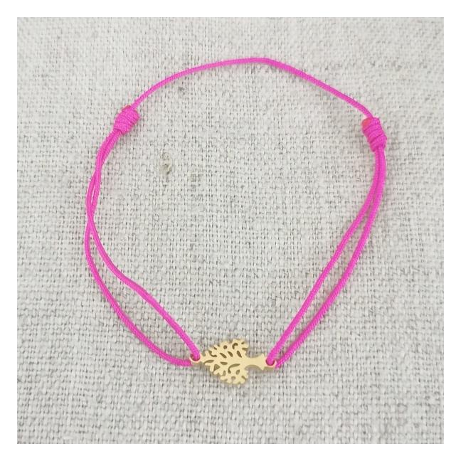 Bracelet coeur arabesque argent