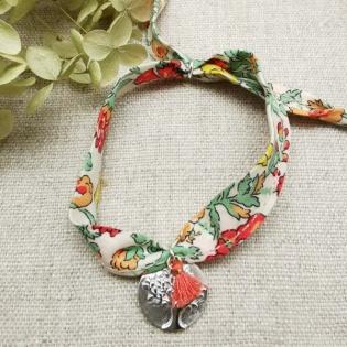 Bracelet médaille colombe ou arbre sur liberty
