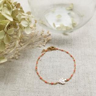 Bracelet perles résines et motifs
