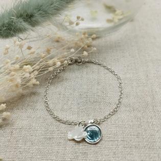 Bracelet religieux chaîne Argent avec breloques