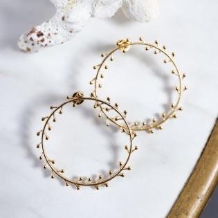 Boucles d'oreilles feuillage ou perle
