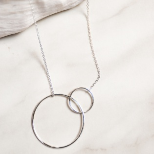 Collier deux anneaux grande taille