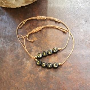 Bracelet lettres et lien coton