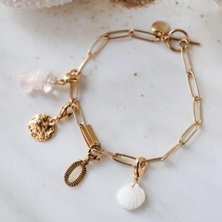 Bracelet large chaîne et breloque amovible