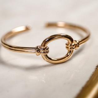 Jonc motif oval style chaîne